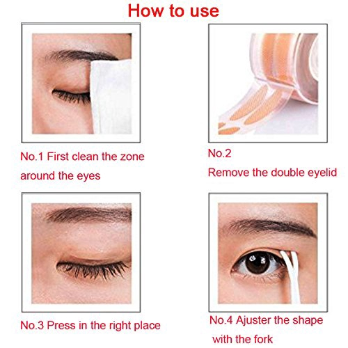 Natural invisible Fiber Instant Double Eyelid Tape Stickers