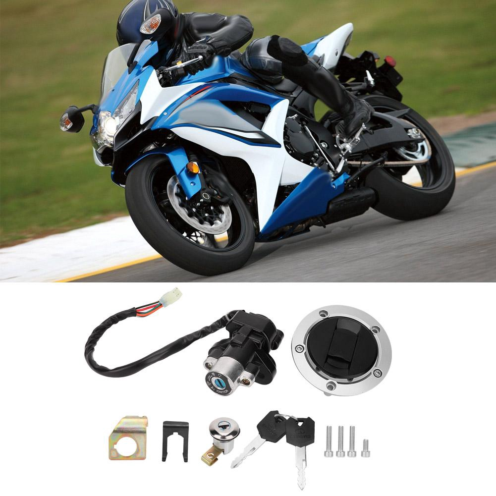KIMISS Motorcycle Fuel Gas Cap Tank Cover with 2 Keys for GSX-R 600 GSX-R750 SV1000