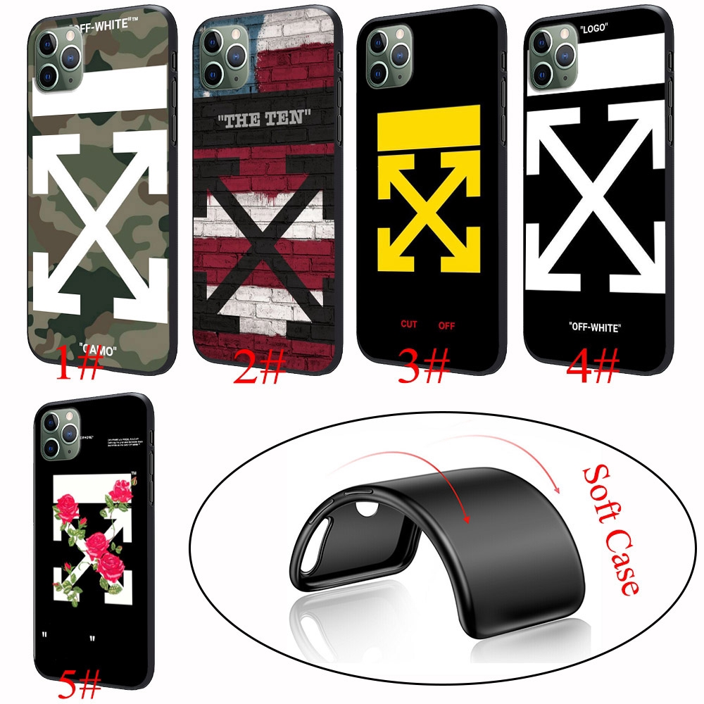 565YX Off White Hypebeast Silicone Soft Cover iPhone 6 6s 7 8 Plus X XS 11 Pro Max XR Case