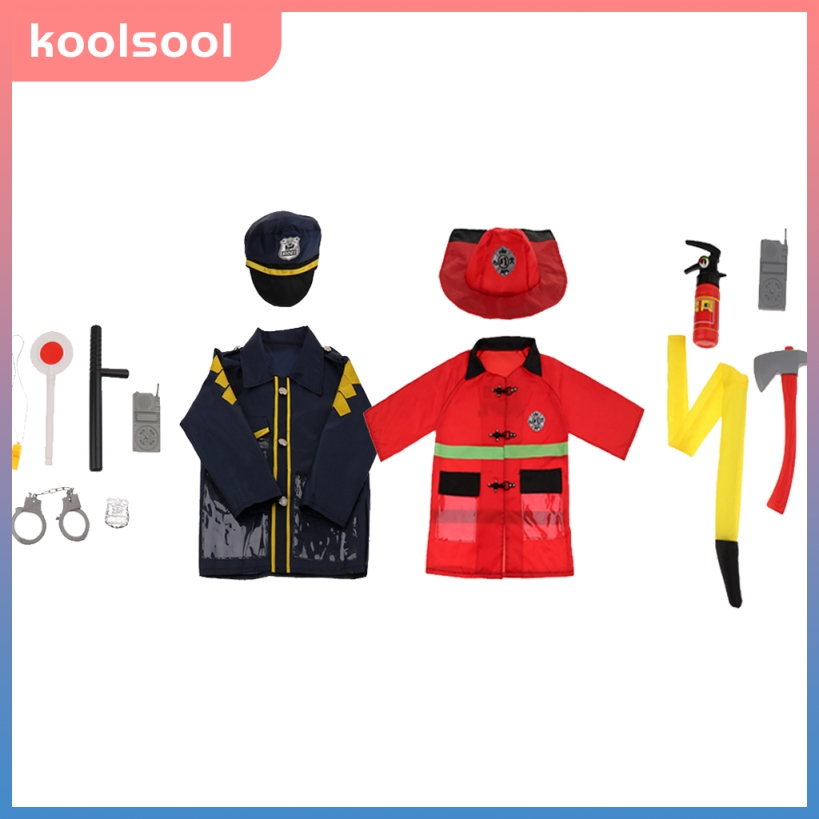 Simulation 6pcs Plastic Police Man Cosplay Props Tools Set Kids Role Play