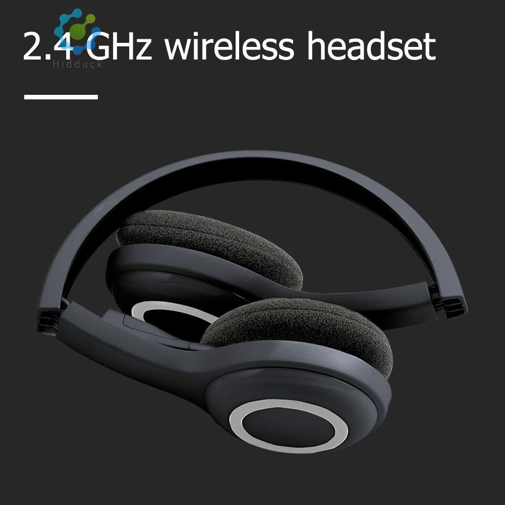 ☀Ja~Logitech H600 2 4GHz Wireless Headset Headphones with Mic for PC White