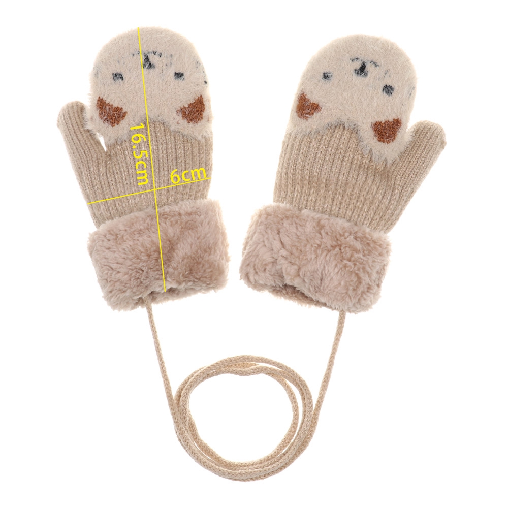 2-7 Years Old 6 Pairs Kids Winter Knitted Stripe Gloves Cute Full Finger Gloves