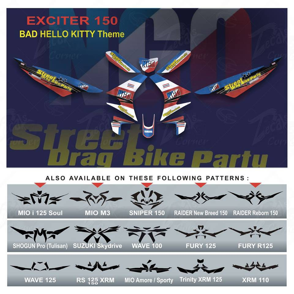 Motorcycle decals sticker kit exciter 150 shopee philippines