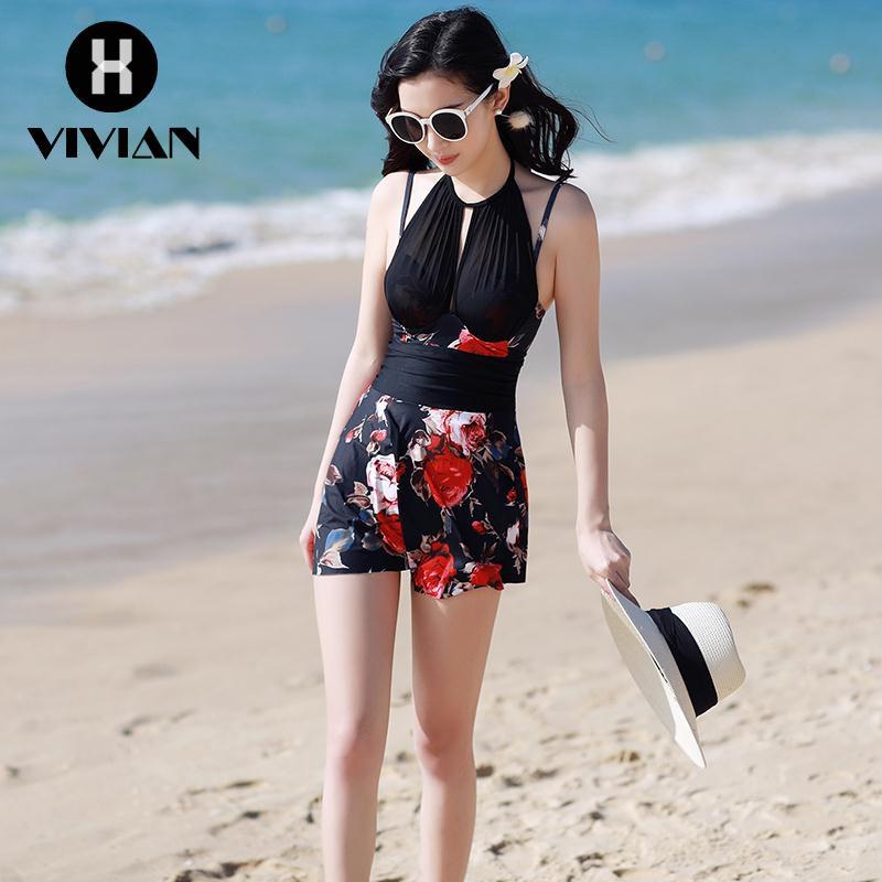 02400db8a3  VIVIAN Ready stock Korean Fashion Women Lace Zhao Yuzhen net red with the  same paragraph swimsuit f