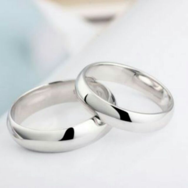 Sale! Silver Stainless Steel Couple Ring