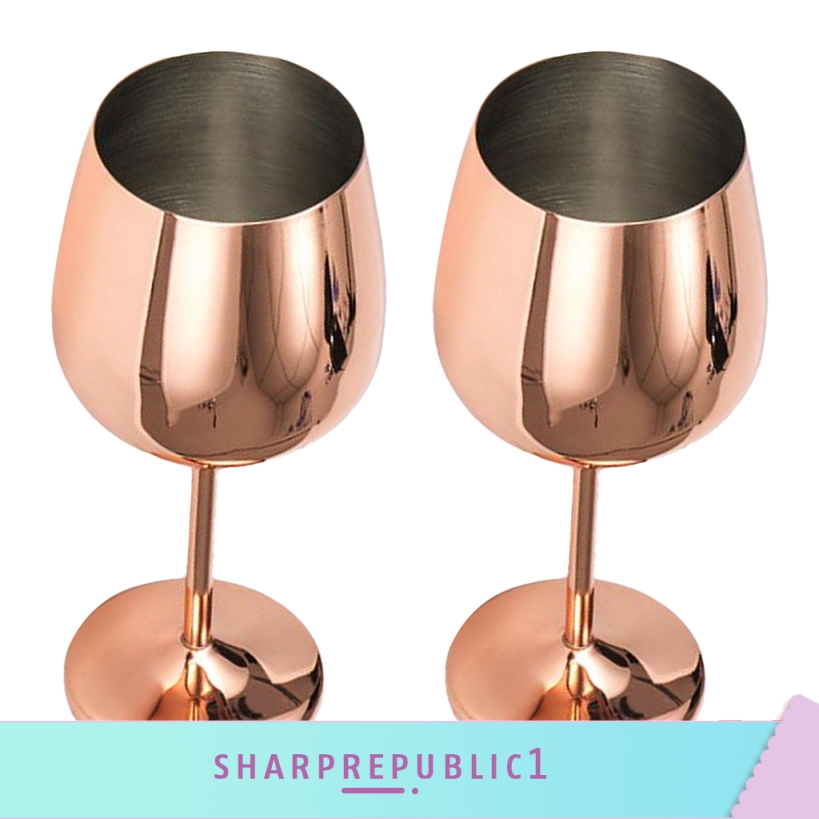 2pc Stainless Steel Wine Glasses//Goblets Keeps Wine Cool Red White Rose Gold