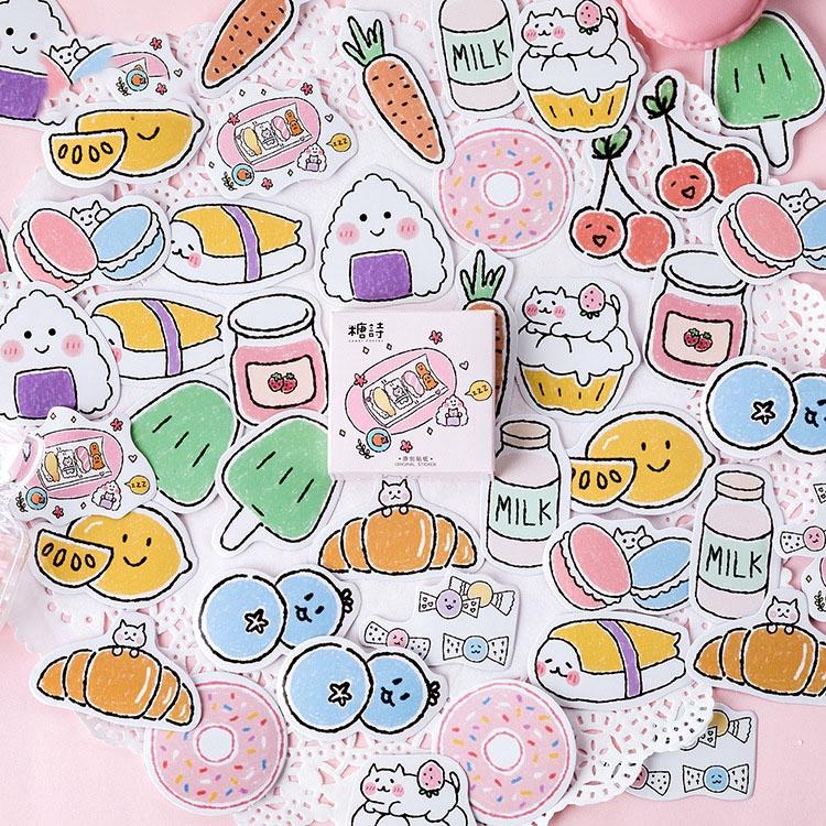 48 pcs Potato Chips Snack Cute Doodle Planner Sticker Sheet