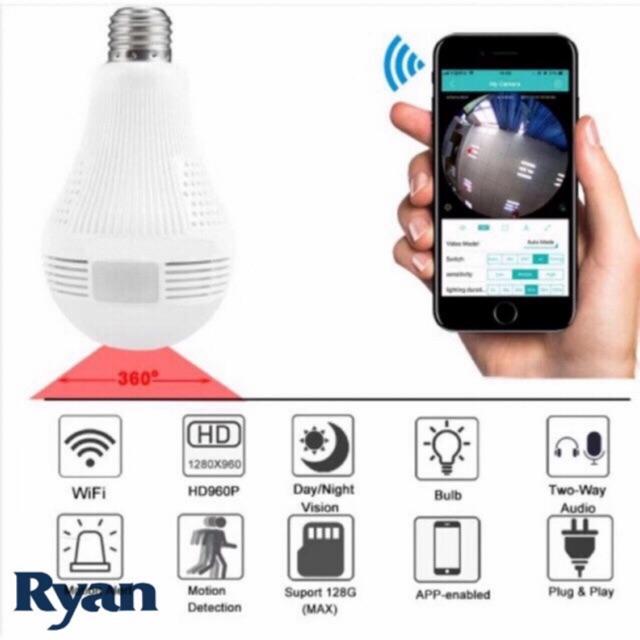 Panoramic Camera 360 Degree LED Light Bulb Wifi CCTV IP
