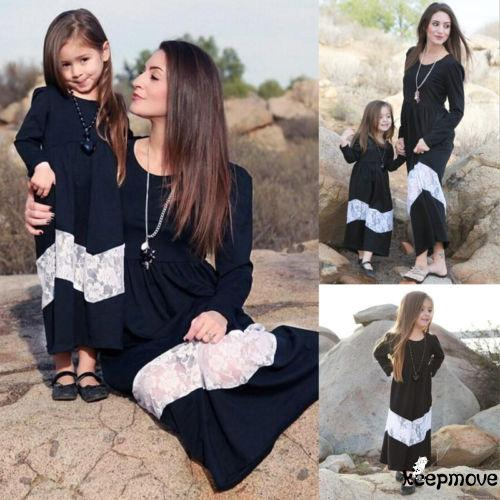 4cef8e41adf04 PK.-Family Parent-child Dress Mother and Daughter Matching