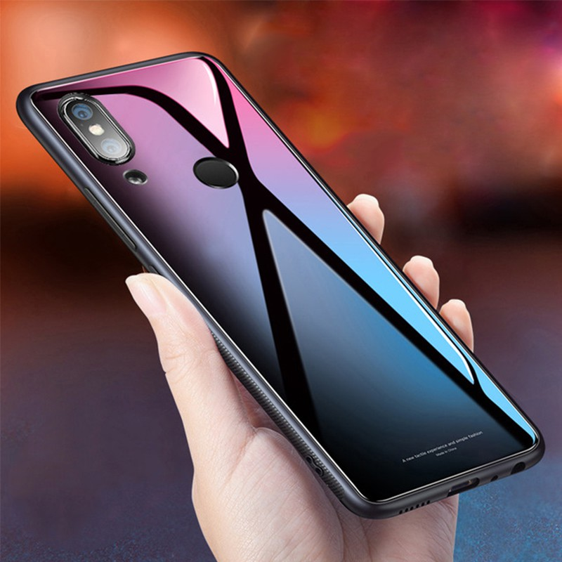 great fit db469 2d591 Xiaomi Redmi S2 Tempered Glass Case Hard Shockproof Cover