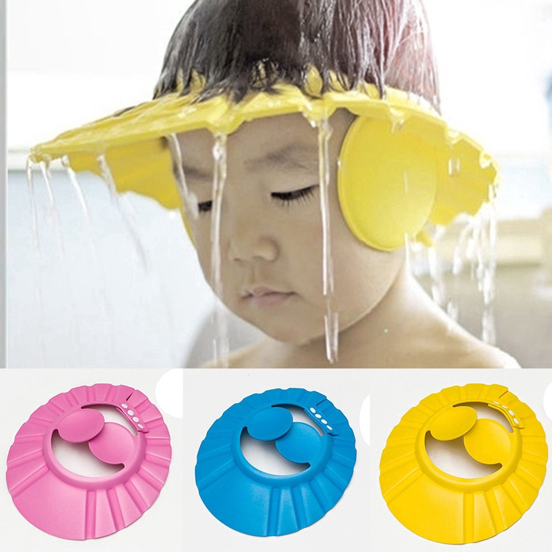 Baby Care Safe Shampoo Shower Head Bathing Bath Protect Soft Cap Hat For Baby Children Kids Shampoo Hat Puscard Shopee Philippines