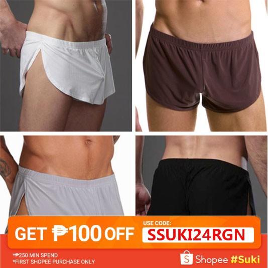 Men Underwear Underpants Comfy Breathable Boxer Shorts Pouch Jockstrap Trunks