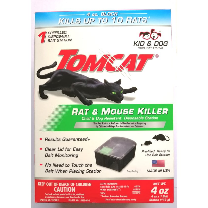 Tomcat Mouse Killer Disposable Station for Indoor Use 1 Station with 1 Bait Child Resistant