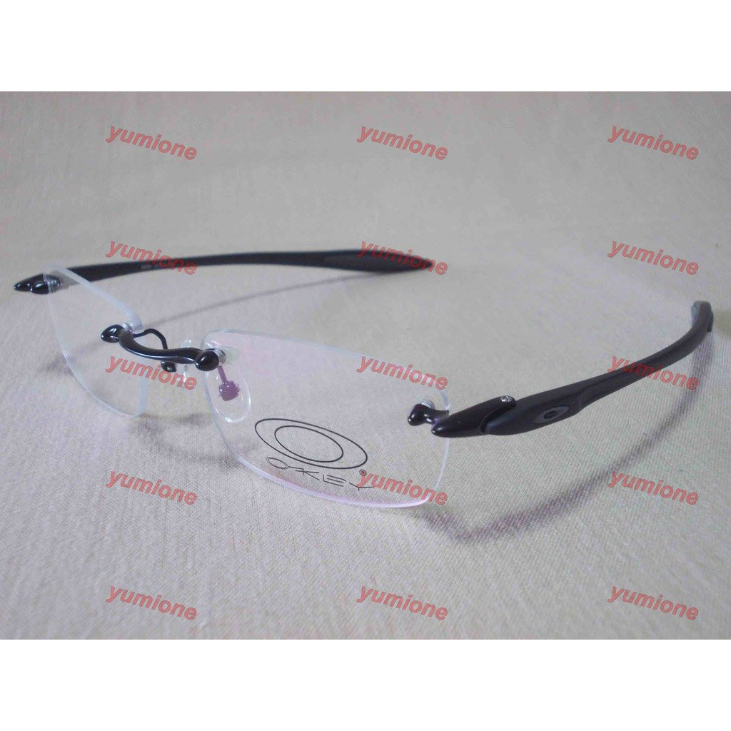 99db2cda2e Oakley Spike Rimless Black Red (52-18) Eyeglasses RX Frames