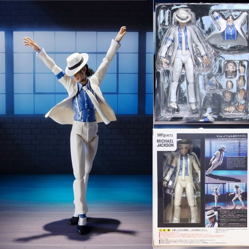 Michael Jackson Action Figure Moonwalk Statue PVC Model Doll Toys Collection New