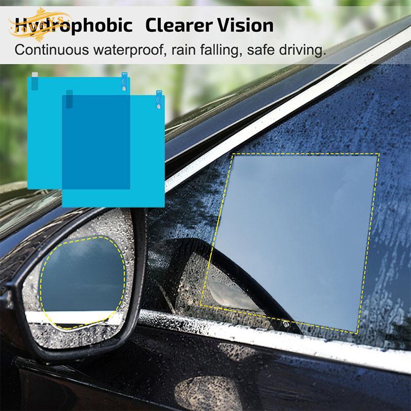 DEFF Anti-Fog Film 2pcs 100x145 Automotive Rain-Proof Sticker Rain-Proof