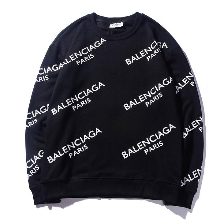 60774a13703a06 Round neck long sleeve Balenciaga men and women sweater | Shopee Philippines