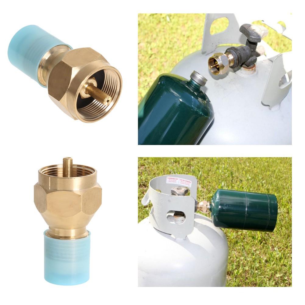 Outdoor Camping Propane Refill Adapter Lp Gas Flat Cylinder Tank Coupler Adapter