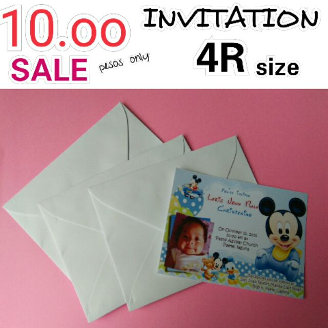 4r size invitation with envelope shopee philippines