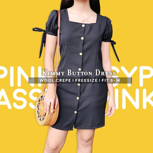 e6b567a246e KIMMY BUTTON DRESS (Fit S-M)