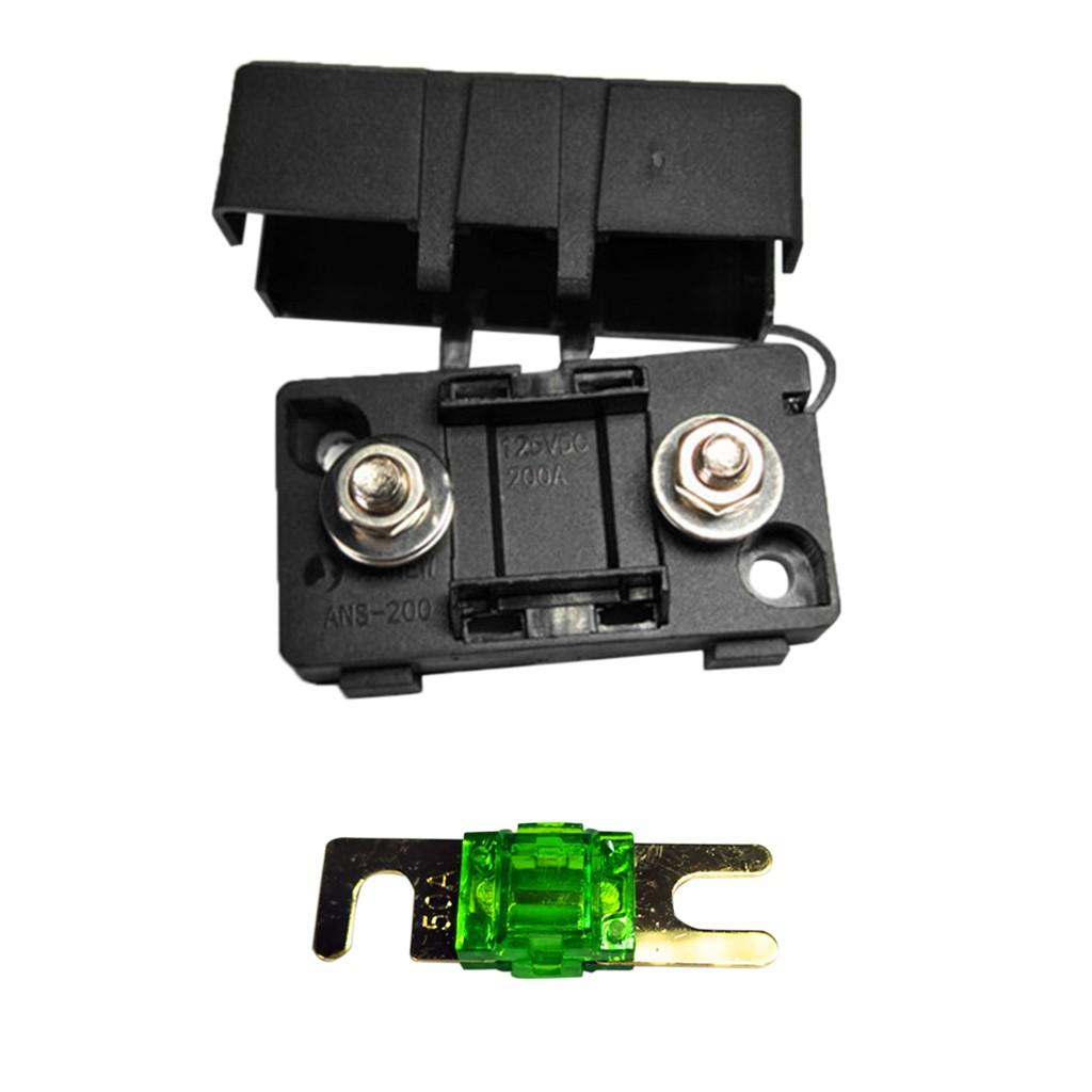 productimage  productimage  automotive car mini ans fuse holder fusebox  block dustproof cover 50a