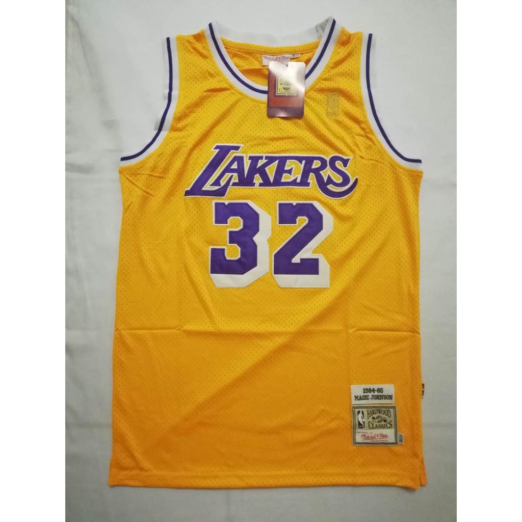 sports shoes 4cb8d dc39b NBA Los Angeles Lakers 32 Magic Johnson Jersey