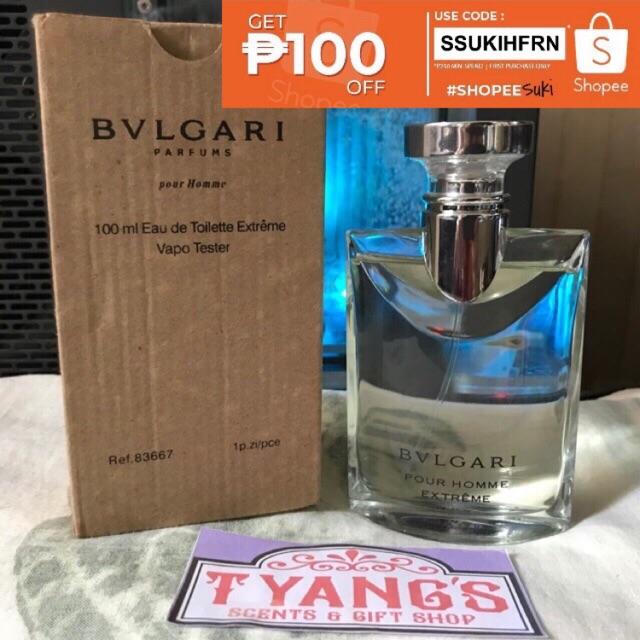 Bvlgari Aqva Pour Homme Extreme For Men Perfume 100ml Shopee
