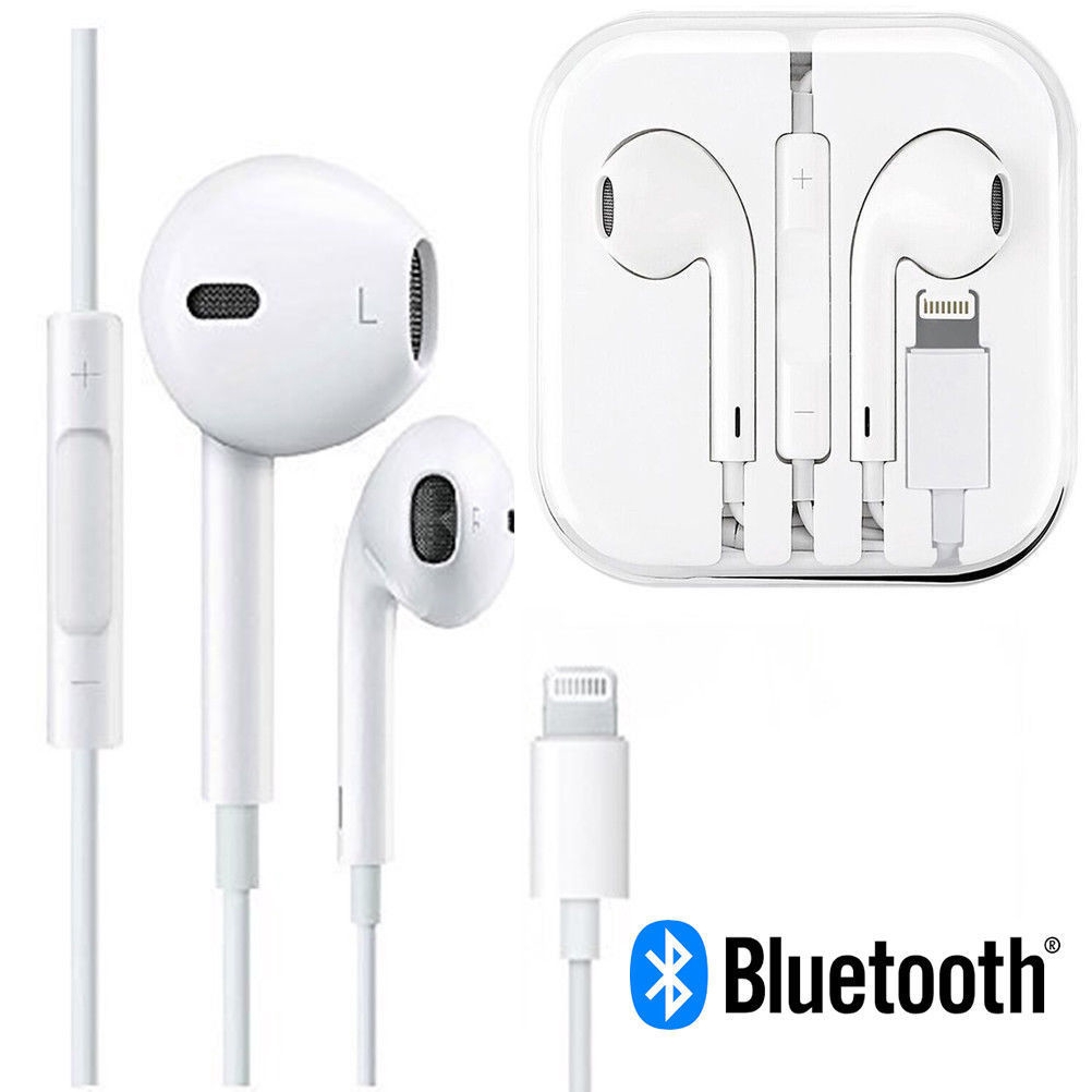 Iphone 7 8 Plus X Xs Xr Bluetooth Wired Headset In Earphones Shopee Philippines