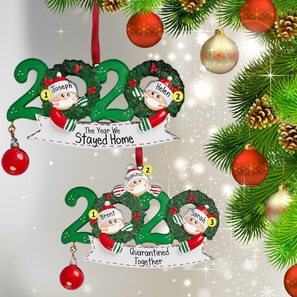 Christmas Tree Ornament 2020 Quarantine Family Xmas Lockdown Decoration