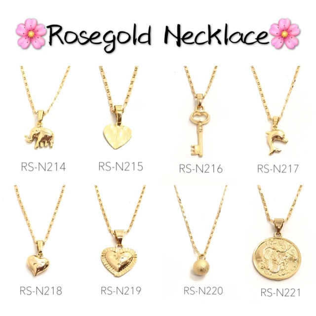 TY Jewelry bangkok gold xuping center chain love necklace | Shopee Philippines