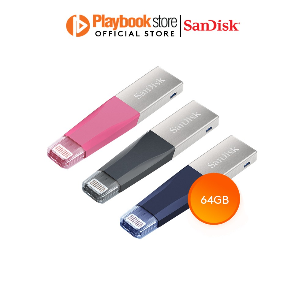 64GB Sandisk iXPAND Lightning Connector and USB3 Flash Drive For iPhone 6,7,8,10