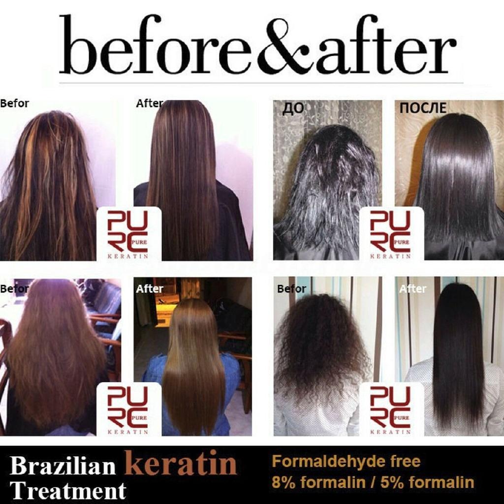PURC 47ml Keratin Straightening 47% Treatment Hair Care Repair Healing