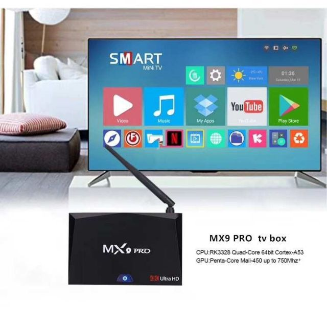 MX9 Pro 4K Ultra HD Android TV Box 2GB