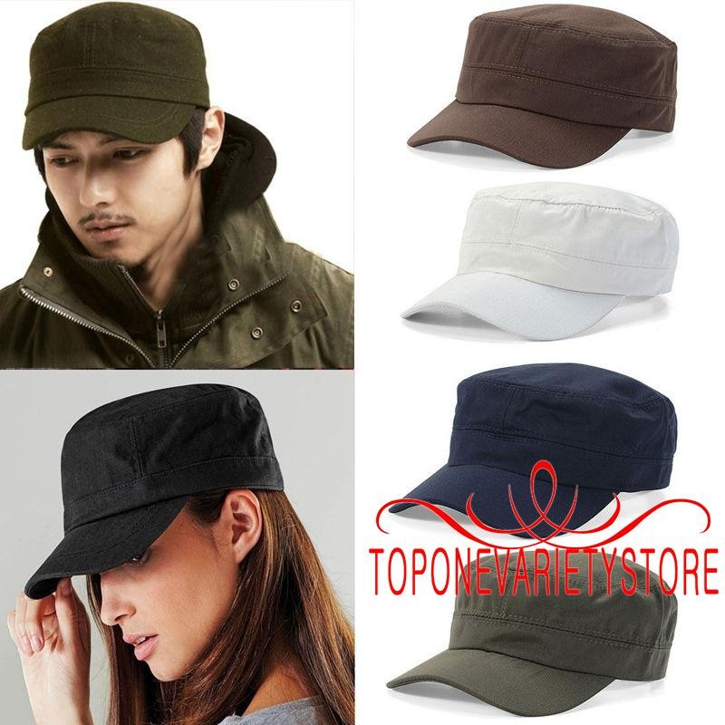 d030f3cbb73 Unisex Plain Hat Sport Visor Sun Adjustable Army Cadet Cap