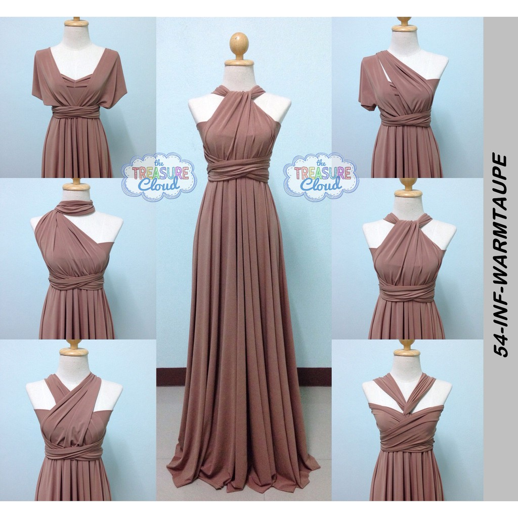 new authentic provide large selection of many choices of (WARM TAUPE) Infinity Dresses / Bridesmaid Dresses