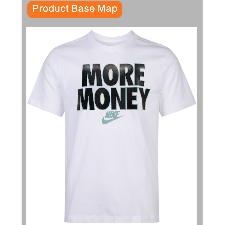Nike Men Fashion T-shirt Round neck unisex 100% cotton More Money Printed T-shirt SimpleStyle