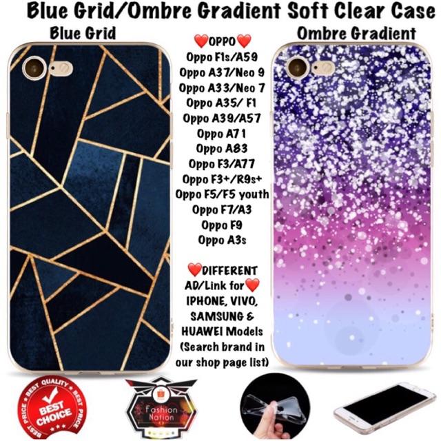 on sale 81328 c29d3 Grid Ombre OPPO Case F1s A3s A33 A37 A39 A57 F1A71 A83 F3 Plus F5 F7 F9  youth iphone 4 5c 5s 6 7 Xs