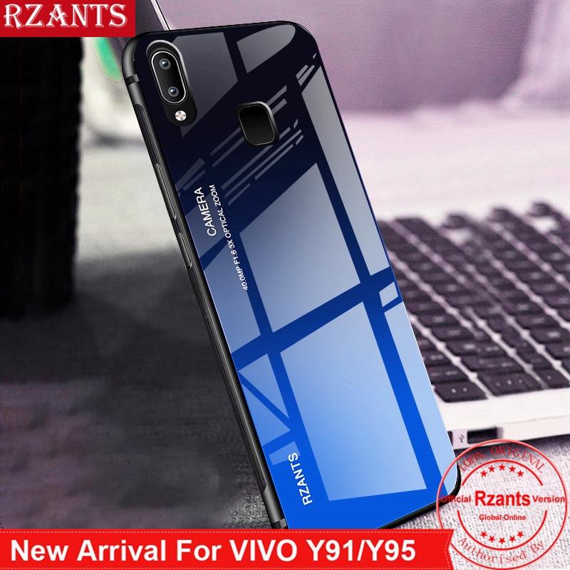 VIVO Y91 Y91C Y91i Y95 Hard Case【Gradient Glass Back】Cover