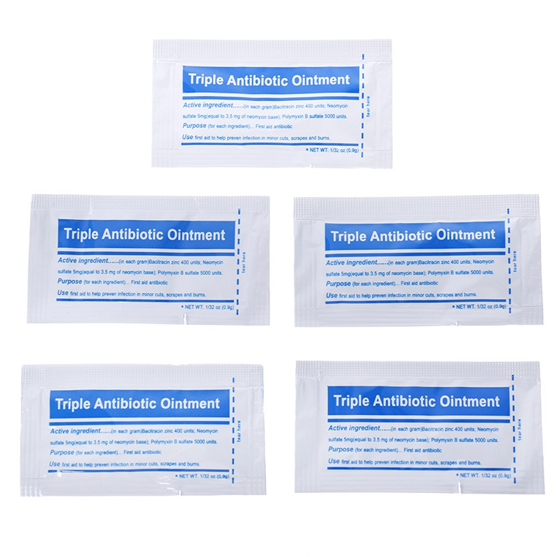 MYPANDA 5 Packs 0 9g/pack triple antibiotic ointment gel for burns first  aid kit