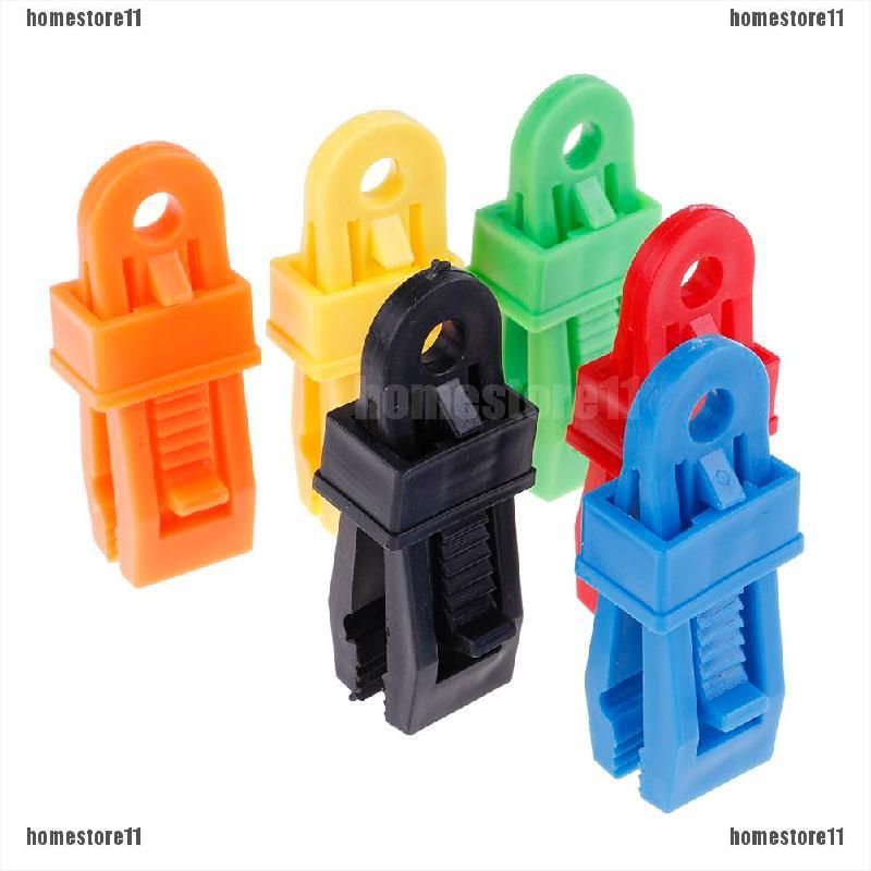 6X Selling Tents Awning Wind Rope Clamp Awnings Outdoor Camping Plastic Clip*~*