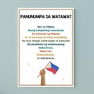 Sa watawat makabayan at panunumpa panatang Panunumpa sa