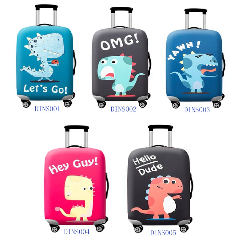 Dinasaur Personalized Travel Luggage Protector Washable Suitcase Cover