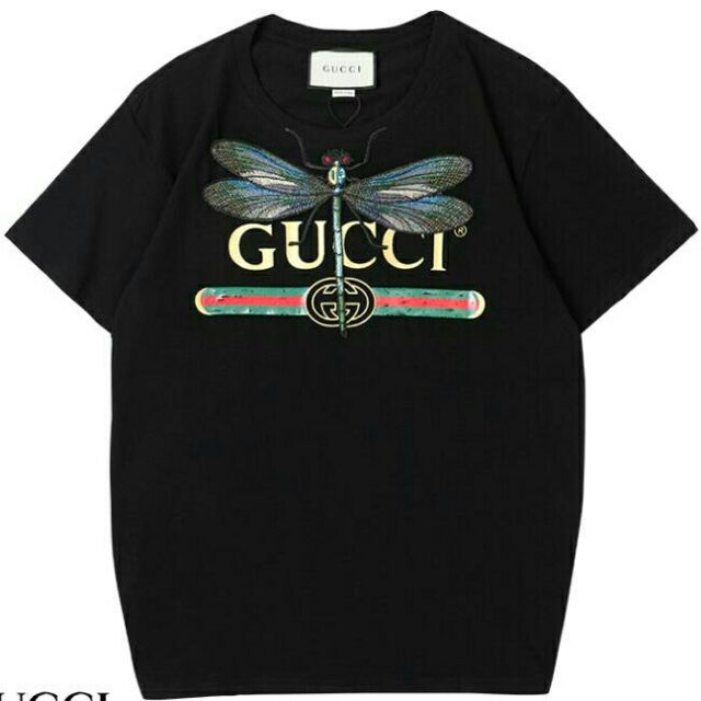 b312b6f7 Gucci Dragonfly Unisex Tshirt for Men and Women | Shopee Philippines