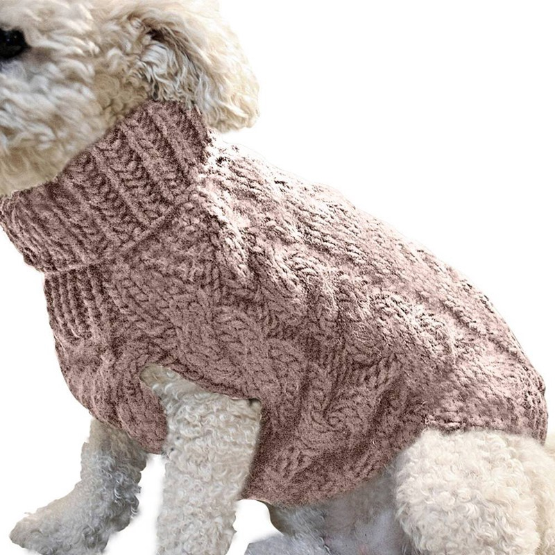 Pet Puppy Dog Jumper Winter Warm Knitted Sweater Clothes Small Dogs Coat
