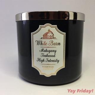 Bath Body Works White Barn Mahogany Teakwood High Intensity 3 Wick Candle