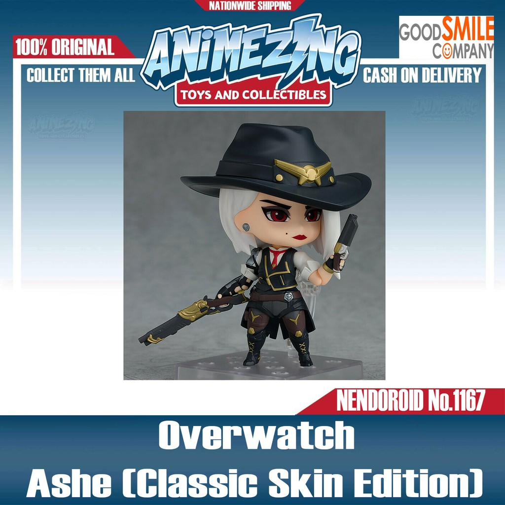 In STOCK Nendoroid Overwatch Ashe Classic Skin Edition 1167 Action Figure
