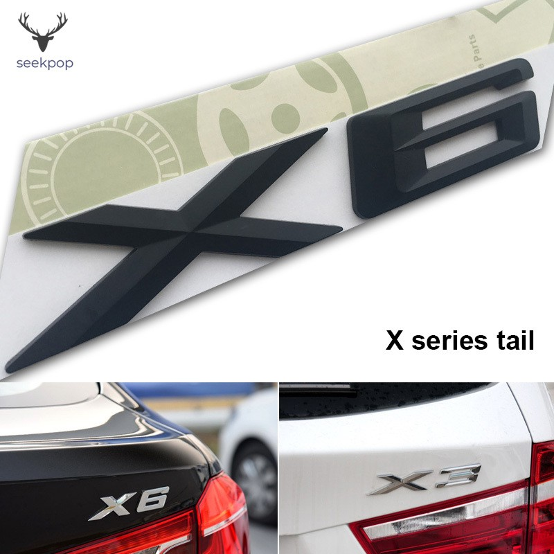 ABS Chrome X5 Letters Number Trunk Rear Emblem Decal Badge Sticker for BMW X5