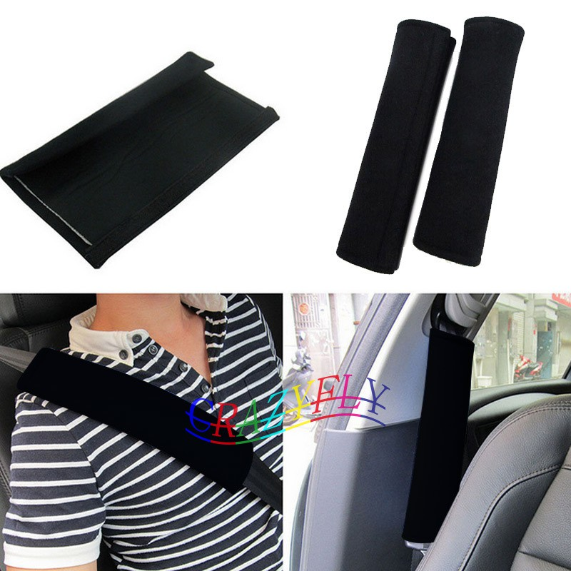2x Soft Car Safety Seat Belt Harness Shoulder Strap Backpack Pad Cover Cushion