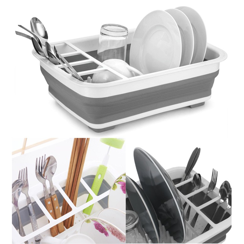 Collapsible Foldable Kitchen Storage Holder And Dish Drainer Rack | Shopee  Philippines