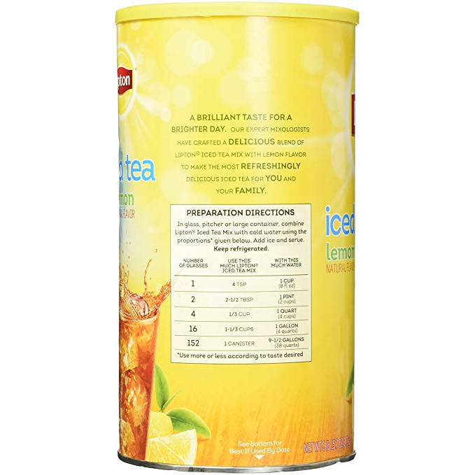 Lipton iced tea Lemon 38quarts 152